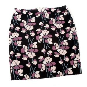 Ann Taylor Floral Print Pencil Skirt - 8P